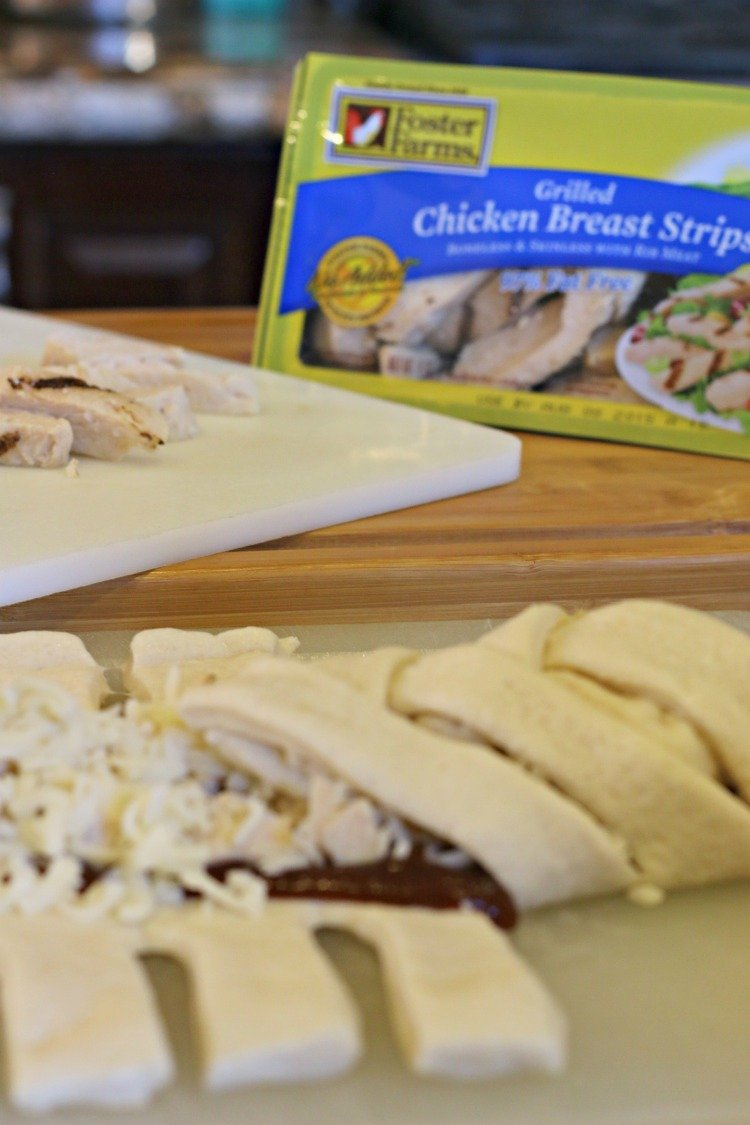 Barbecue Chicken Pizza Braid Made Easy with Foster Farms - Menu of ...