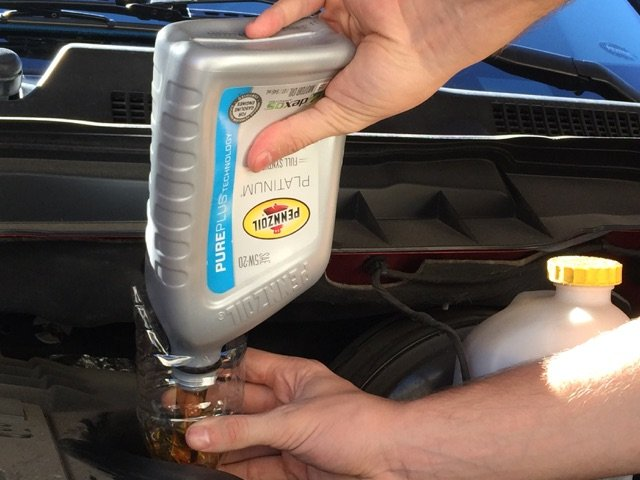 Oil Change Checklist with Pennzoil Oil