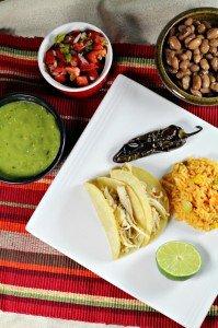 Cilantro Lime Chicken Tacos {Slow Cooker Version}