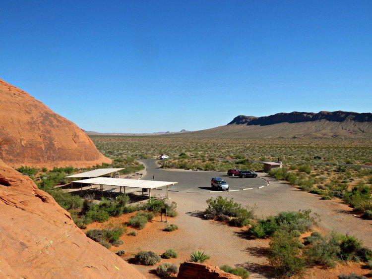 Atlatl Rock Parking Lot