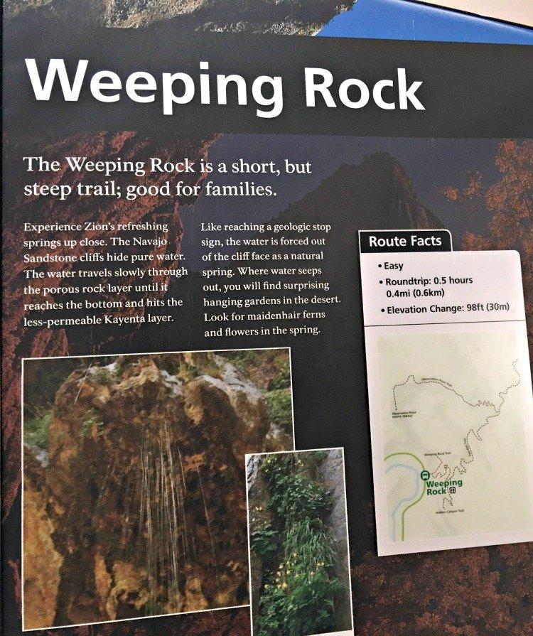 weeping rock zion